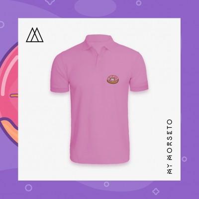 Ανδρικό Μπλουζακι Polo Donuts Ροζ