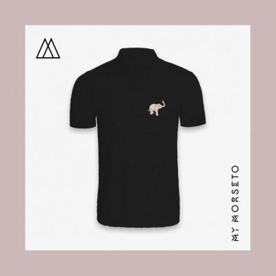 Ανδρικό Μπλουζακι Polo Elephant Μαύρο