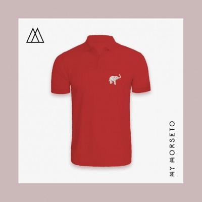 Ανδρικό Μπλουζακι Polo Elephant Κόκκινο