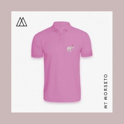 Ανδρικό Μπλουζακι Polo Elephant Ροζ