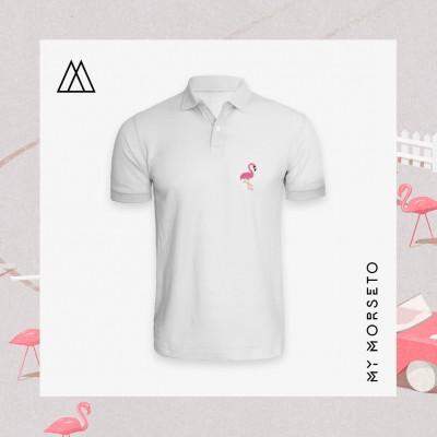 Ανδρικό Μπλουζακι Polo Flamingo Ασπρο