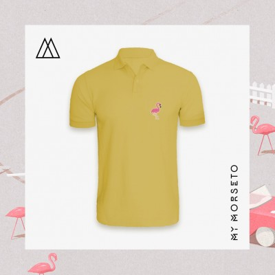 Ανδρικό Μπλουζακι Polo Flamingo Κίτρινο
