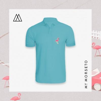 Ανδρικό Μπλουζακι Polo Flamingo Γαλάζιο