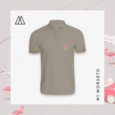 Ανδρικό Μπλουζακι Polo Flamingo Γκρι