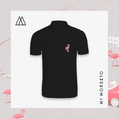 Ανδρικό Μπλουζακι Polo Flamingo Μαύρο