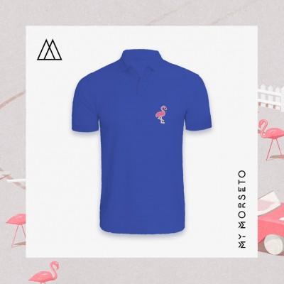 Ανδρικό Μπλουζακι Polo Flamingo Μπλε