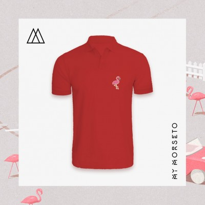 Ανδρικό Μπλουζακι Polo Flamingo Κόκκινο