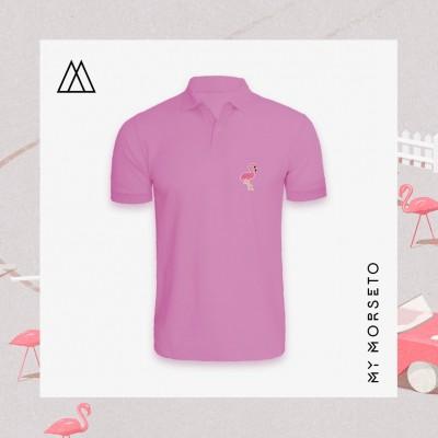 Ανδρικό Μπλουζακι Polo Flamingo Ροζ