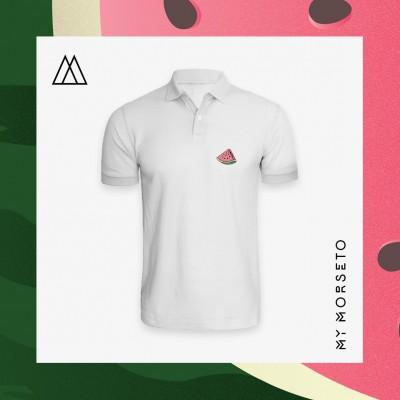 Ανδρικό Μπλουζακι Polo Watermelon Ασπρο