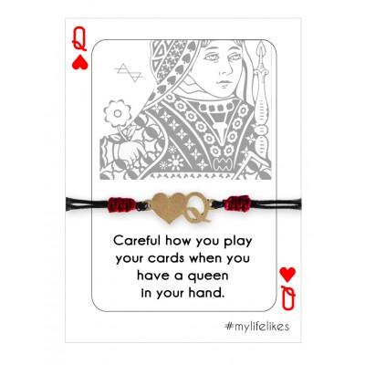 Βραχιόλι Queen με διακοσμητικό Μέταλλο σε Χρώμα Χρυσό