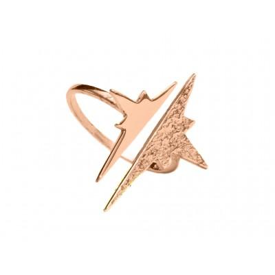 Δαχτυλίδι Αστέρι Ασήμι 925 σε Ρόζ Χρυσό χρώμα