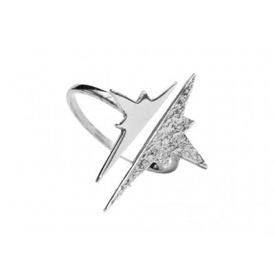 Δαχτυλίδι Αστέρι Ασήμι 925 σε Ασημί χρώμα