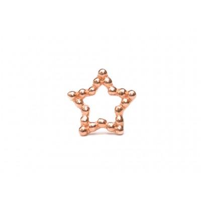 Σκουλαρίκια Αστέρι Ασήμι 925 σε Ρόζ Χρυσό χρώμα