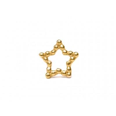 Σκουλαρίκια Αστέρι Ασήμι 925 σε Χρυσό χρώμα