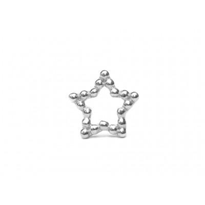 Σκουλαρίκια Αστέρι Ασήμι 925 σε Ασημί χρώμα