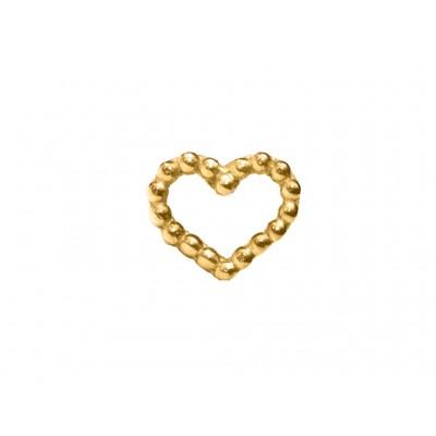 Σκουλαρίκια Καρδιά Ασήμι 925 σε Χρυσό χρώμα