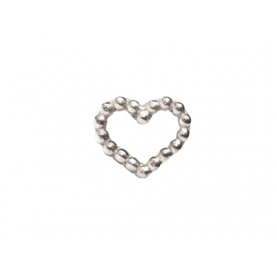 Σκουλαρίκια Καρδιά Ασήμι 925 σε Ασημί χρώμα
