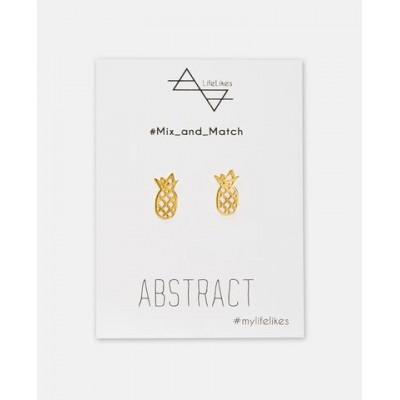 Σκουλαρίκια Abstract σε Χρυσό χρώμα