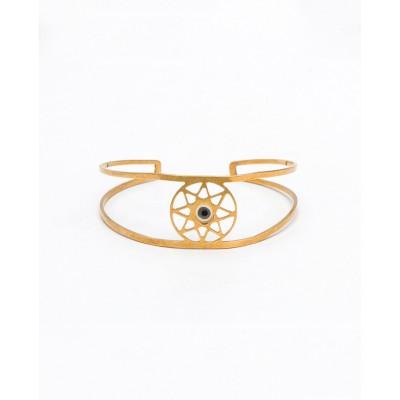 Βραχιόλι Βέργα Dreamcatcher Eye Bangle σε Χρυσό Χρώμα