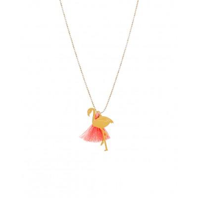 Κρεμαστό Flamingo με διακοσμητικό μέταλλο σε Χρυσό χρώμα