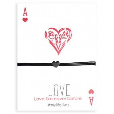 Βραχιόλι Love με διακοσμητικό Μέταλλο σε Χρώμα Μαύρη Οξείδωση