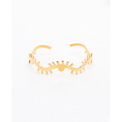 Βραχιόλι Βέργα Pattern Eye Bangle σε Χρυσό χρώμα