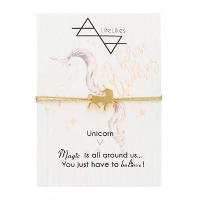 Βραχιόλι Unicorn με Χρυσή χρυσοκλωστή