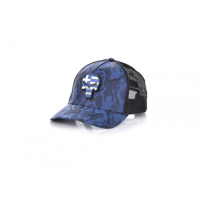 Καπέλο Jockey Army Blue Skull Flag