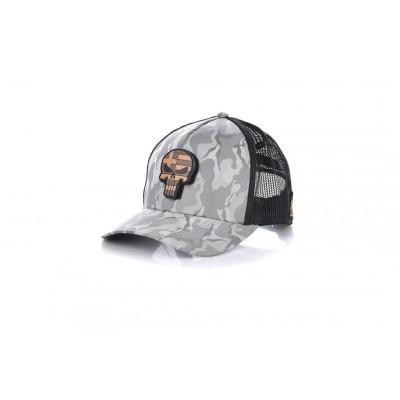 Καπέλο Jockey Army Grey Skull Flag