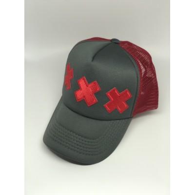 Καπέλο Jockey The ''XXX'' Grey Red