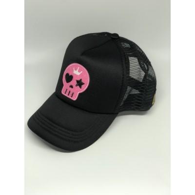 Καπέλο Jockey Pink Black Skull