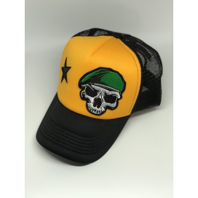 Καπέλο Jockey Skull Beret Yellow