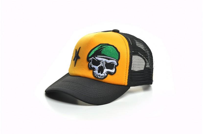 Καπέλο Jockey Skull Beret Yellow