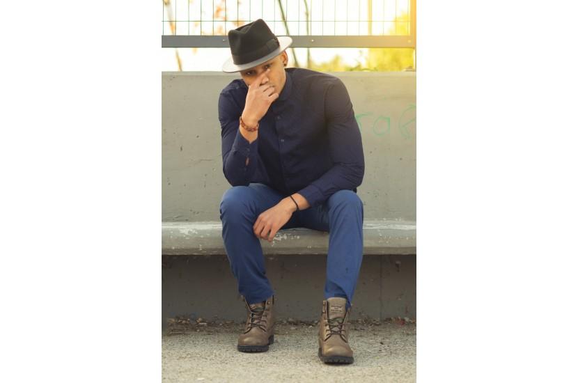 ΞΥΛΙΝΟ ΚΑΠΕΛΟ MORSETO - BLACK GREY