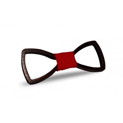Ξύλινο Παπιγιόν - Red Detail