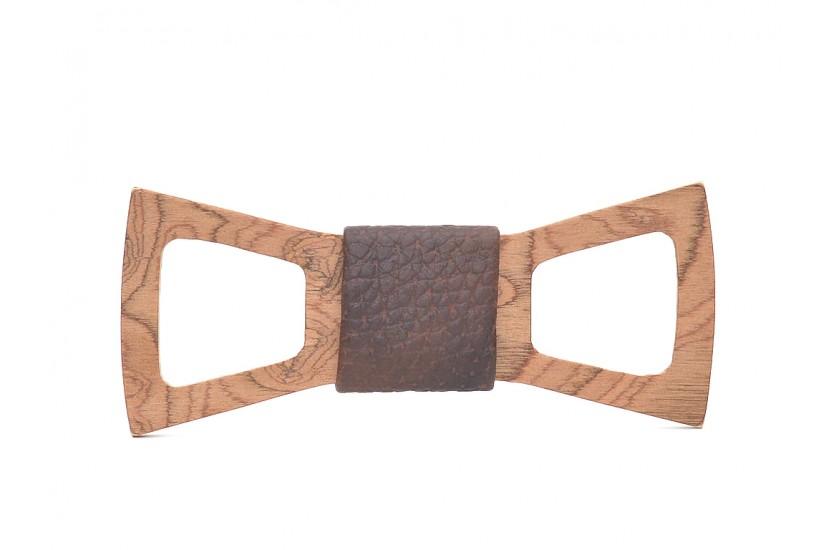 Ξύλινο Παπιγιόν Natural Scorpius -Brown Croco