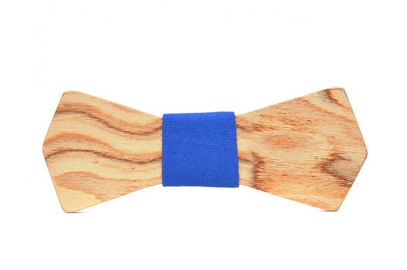 Ξύλινο Παπιγιόν Natural Phoenix -Light Blue