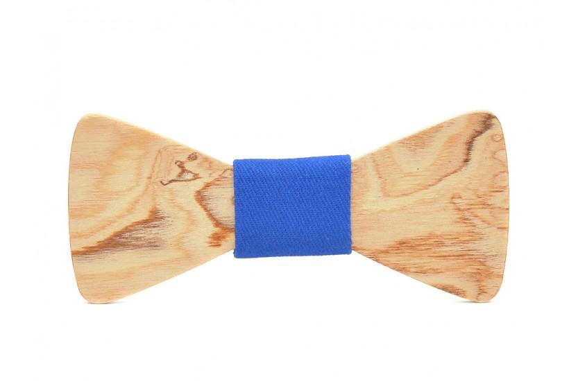 Ξύλινο Παπιγιόν Natural Hercules -Light Blue