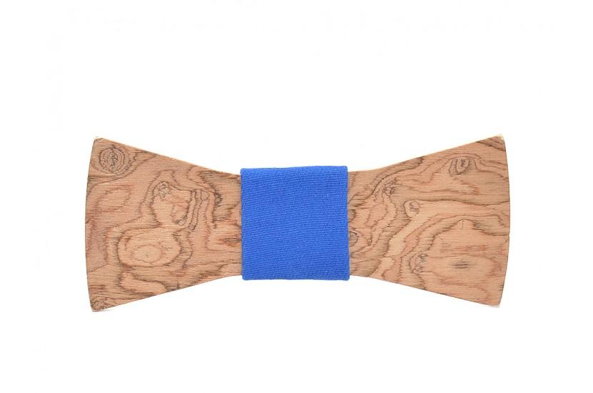 Ξύλινο Παπιγιόν Natural Epidanus -Light Blue