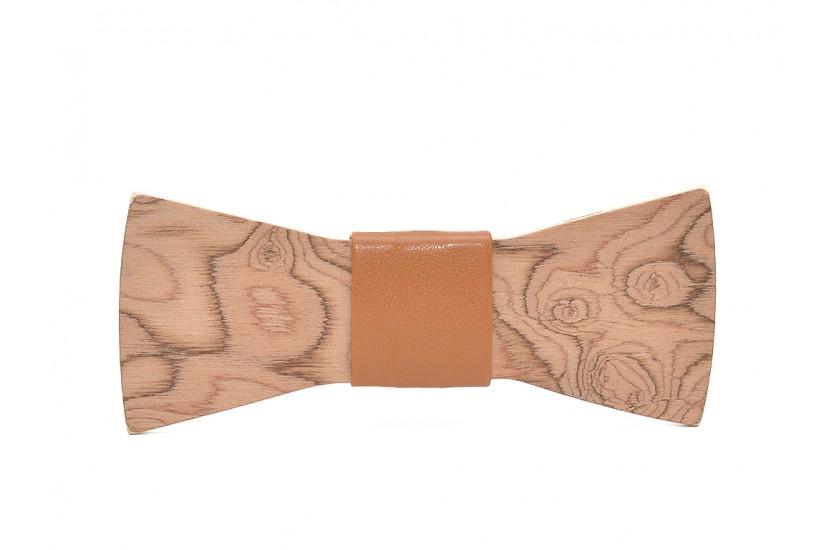Ξύλινο Παπιγιόν Natural Epidanus -Brown