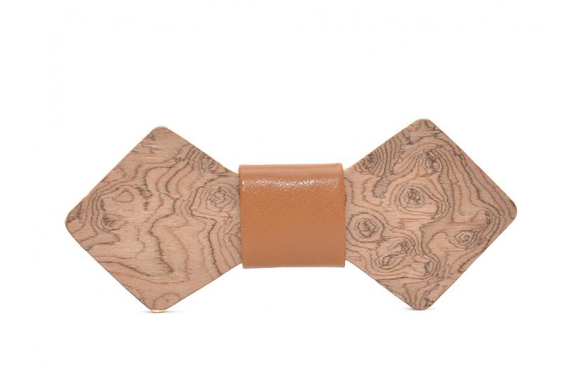Ξύλινο Παπιγιόν Natural Libra -Brown