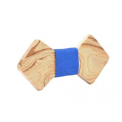 Ξύλινο Παπιγιόν Natural Chamaeleon -Light Blue