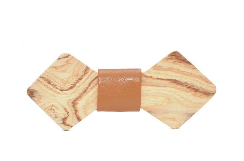 Ξύλινο Παπιγιόν Natural Chamaeleon -Brown