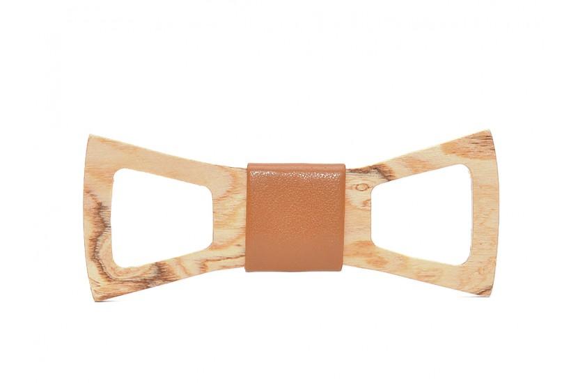 Ξύλινο Παπιγιόν Natural Draco -Brown