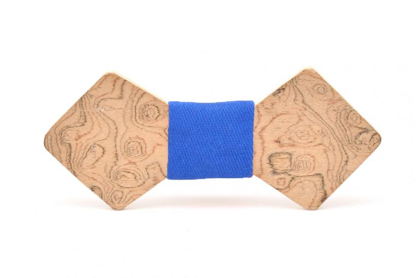 Ξύλινο Παπιγιόν Natural Libra -Light Blue