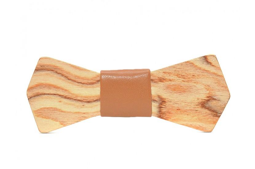 Ξύλινο Παπιγιόν Natural Phoenix -Brown