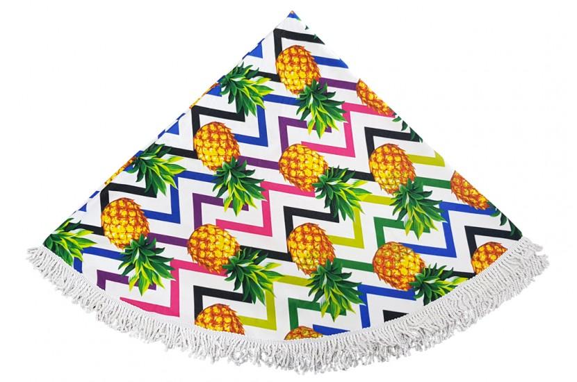 Πετσέτα Θαλάσσης Στρόγγυλη MORSETO Pineapple Φ150