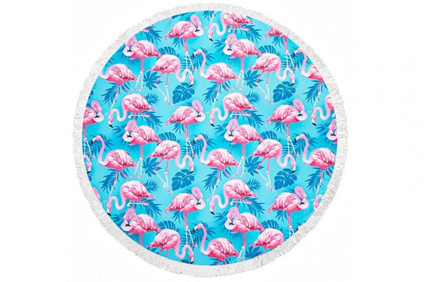 Πετσέτα Θαλάσσης Στρόγγυλη MORSETO Flamingo Φ150