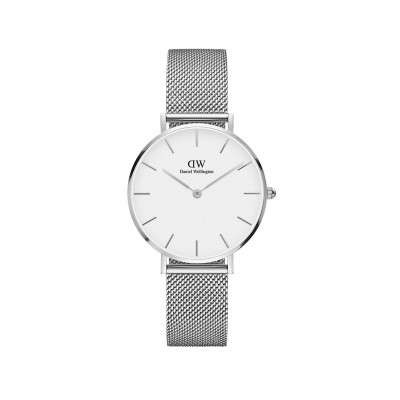 ΡΟΛΟΙ ΧΕΙΡΟΣ - DANIEL WELLINGTON Classic Petite Sterling 32mm Silver White