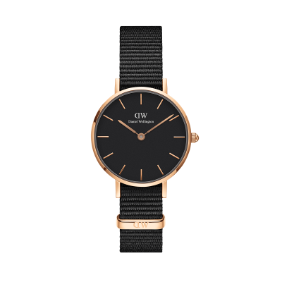 ΡΟΛΟΙ ΧΕΙΡΟΣ - DANIEL WELLINGTON Classic Petite Cornwall 28MM Rose Gold Black